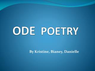 ODE POETRY