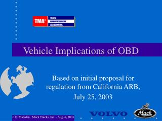 Vehicle Implications of OBD