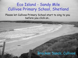 Eco Island - Sandy Mile Cullivoe Primary School, Shetland