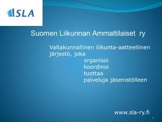 Suomen Liikunnan Ammattilaiset  ry