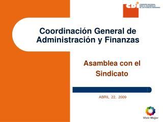 Coordinación General de Administración y Finanzas