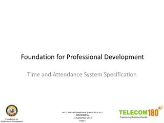 Foundation for Professional Development