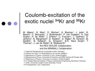 Coulomb-excitation of the exotic nuclei  94 Kr and  96 Kr