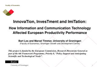 InnovaTion, InvesTment and ImiTation: