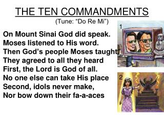 "THE TEN COMMANDMENTS (Tune: ""Do Re Mi"")"