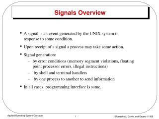 Signals Overview