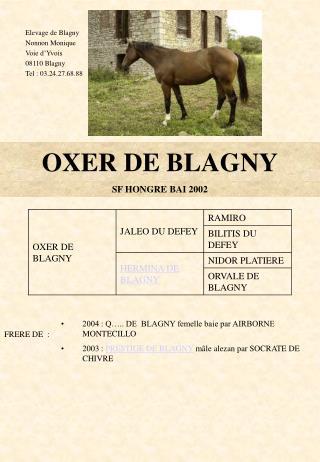 OXER DE BLAGNY
