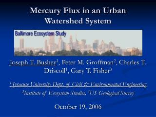 Mercury Flux in an Urban Watershed System