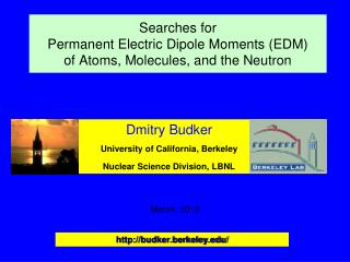 Searches for  Permanent Electric Dipole Moments (EDM)  of Atoms, Molecules, and the Neutron