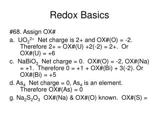 Redox Basics