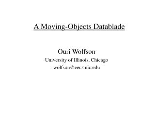 A Moving-Objects Datablade