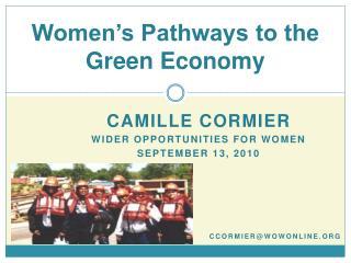 Women's Pathways to the  Green Economy