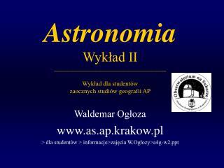 Waldemar Ogłoza as.ap.krakow.pl > dla studentów > informacje>zajęcia W.Ogłozy>a4g-w2