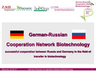 German-Russian  Cooperation Network Biotechnology