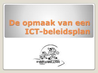 De opmaak van een ICT-beleidsplan