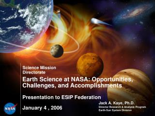 Jack A. Kaye, Ph.D. Director Research & Analysis Program Earth-Sun System Division