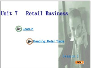 Unit 7   Retail Business