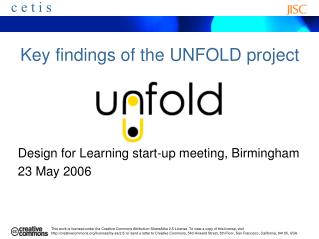 Key findings of the UNFOLD project