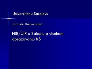 Prof. dr. Hazim Ba�i?