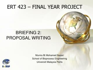 BRIEFING 2: PROPOSAL WRITING