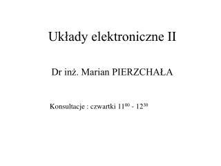 Układy elektroniczne II