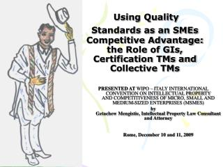 Using Quality Standards as an SMEs Competitive Advantage: the Role of GIs, Certification TMs and Collective TMs