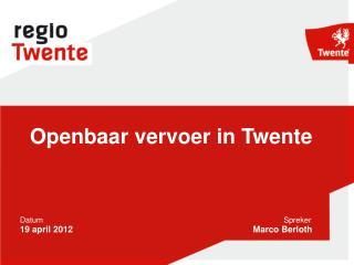 Openbaar vervoer in Twente