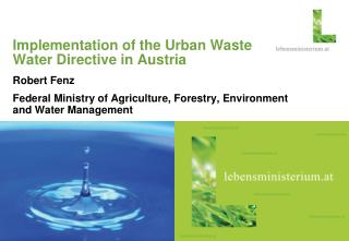 Implementation of the Urban Waste Water Directive in Austria