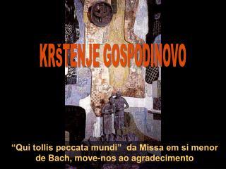 """Qui tollis peccata mundi""  da Missa em si menor de Bach, move-nos ao agradecimento"
