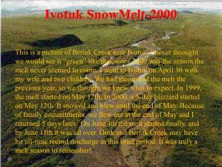 Ivotuk SnowMelt-2000