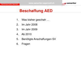 Beschaffung AED
