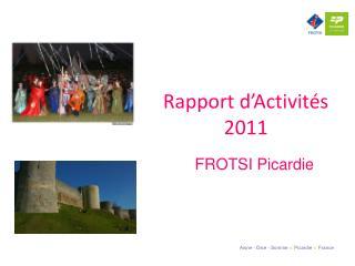 Rapport d�Activit�s 2011