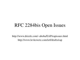 RFC 2284bis Open Issues