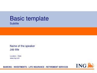 Basic template Subtitle