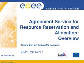 Agreement Service for Resource Reservation and Allocation: Overview