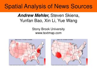 Spatial Analysis of News Sources