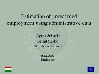 Estimation of unrecorded employment using administrative data