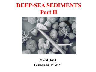 DEEP-SEA SEDIMENTS Part II