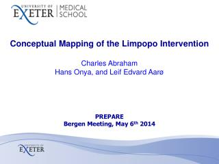 Conceptual Mapping of the Limpopo Intervention Charles Abraham Hans Onya, and Leif Edvard Aarø