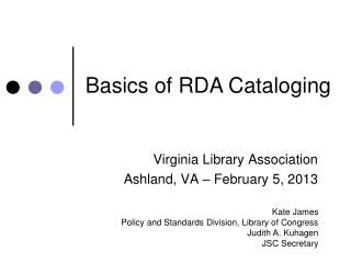 Virginia Library Association Ashland, VA – February 5, 2013