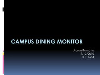 Campus dining monitor