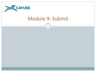 Module 9: Submit