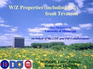W/Z Properties (including M W )                 from Tevatron