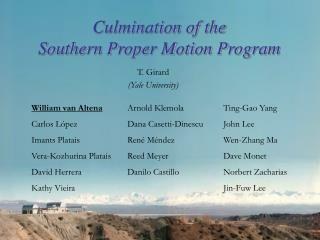 Culmination of the  Southern Proper Motion Program
