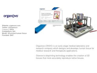 Website :  organovo Twitter: @ Organovo Category :  Other Competitors : N/A