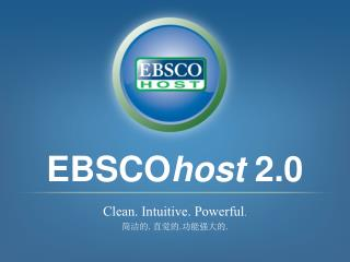 EBSCO host  2.0