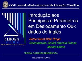 Introdução aos Princípios e Parâmetros em Deslocamento Qu-: dados do Inglês
