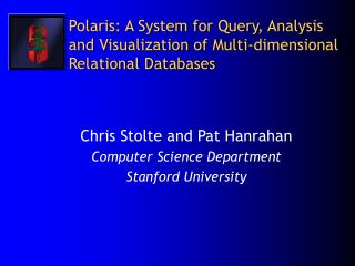 Polaris: A System for Query, Analysis and Visualization of Multi-dimensional Relational Databases