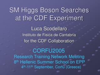 SM Higgs Boson Searches at the CDF Experiment