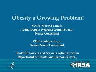 Obesity a Growing Problem!